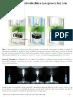 Eight. Pequeña Hidroeléctrica Que Genera Luz Con Dos Botellas PET _ EcoInventos