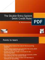 The Double Entry System – Debit Credit Rules
