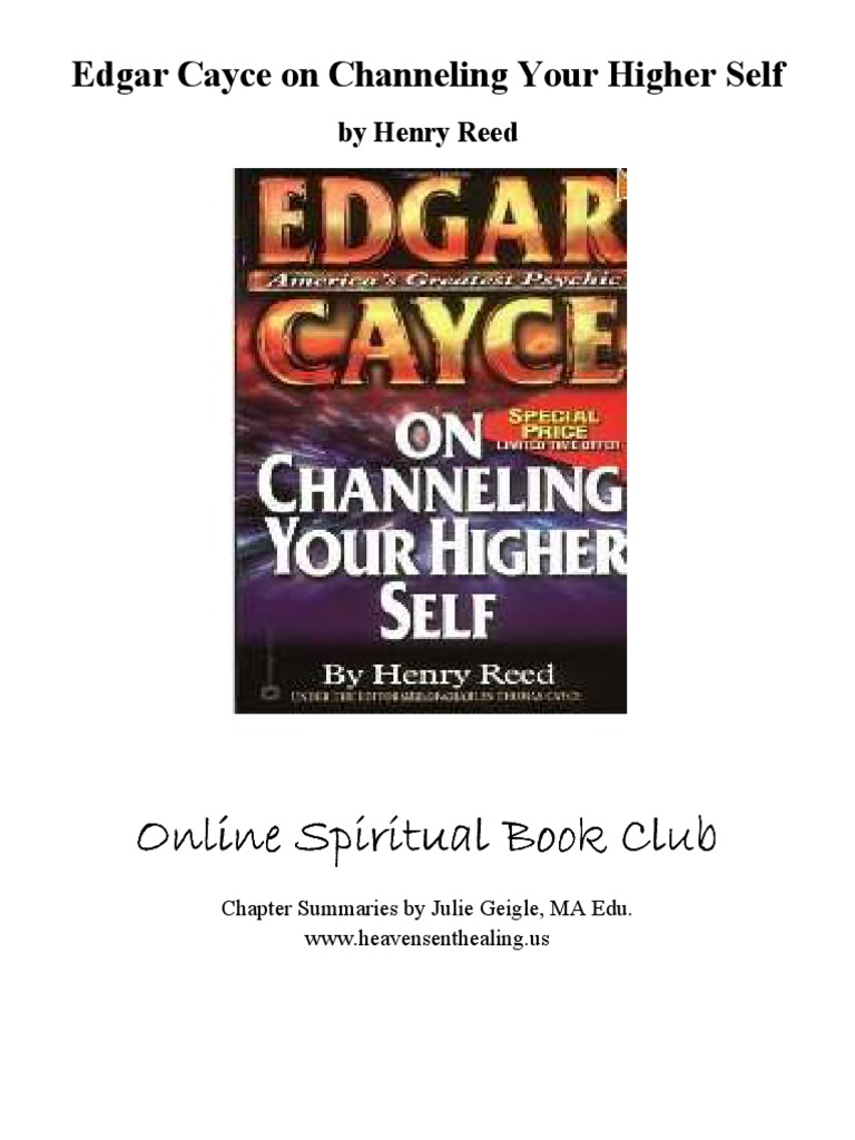 Edgar Cayce on Channeling Your Higher Self | Dream | Meditation