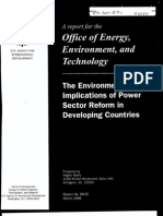 The Environmental Implications of Power Sector Regulations in Developing Countries
