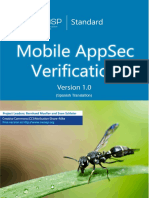 OWASP Mobile AppSec Verification Standard v1.0-ES