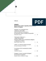 Movimientos Sociales, Argentina, Bolivia, Brasil, México y Paraguay