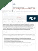 Recommendation R195 - Human Resources Development Recommendation, 2004 (No. 195)