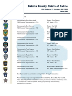 Dakota County Chiefs of Police Letter to Legislators