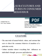 Cultures,Sub-cultures and Cross Cultures in Consumer Behaviour