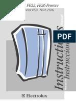 Manual Congelador Electrolux FE22
