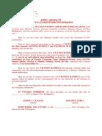 Affidavit of Two Disinterested Persons - Bandula