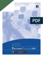 Memoria Elecciones Generales 2,007, TSE Guatemala