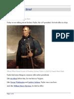 Zachary Taylor - Brief