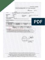 Certificado de Calibración Fluke 179 Nuevecito