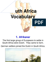 south africa vocab 2017 2018