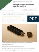Como Recuperar Arquivos Perdidos de Um Pendrive Ou Cartão de Memória _ Dicas e Tutoriais _ TechTudo