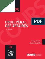 J3L2 (Sujet) - Droit pénal des affaires (Cours)