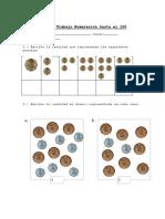 Guía de Trabajo Numeración Hasta El 100 con monedas