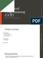 Computer Programming Languages MIS 301 - Encapsulation Polymorphism