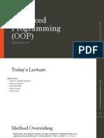 Computer Programming Languages MIS 301 - Inheritance (II)