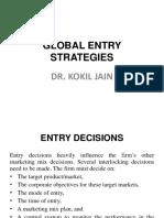 Entry Strategies