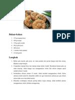 Cara Membuat Kue Cucur