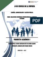 Producto Academica 1 Relaciones Económicas Internacionales y Comercio Exterior