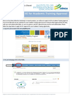 How to Receive IIE Approval for Academic Training