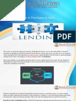 Peer to Peer Loans in India