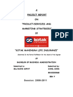 Project Report on Kotak Life Insurance