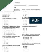 Formativa Matematica 4to Basico - Numeros Hasta El 10000