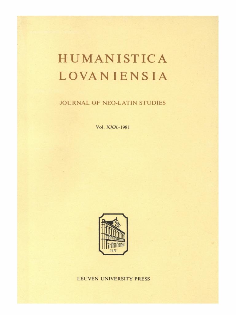 Humanistica Lovaniensia Vol. 30, 1981.pdf   Florence   Chancellor 606931fc7e0