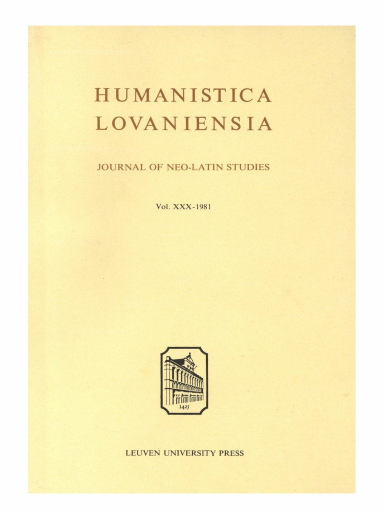 Humanistica Lovaniensia Vol. 30, 1981.pdf   Florence   Chancellor 47775aa208