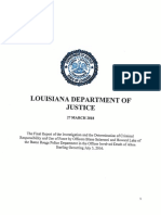 Louisiana DOJ report on Alton Sterling shooting