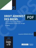 J1L3 (Corrigé) - Droit administratif des biens (Cours)