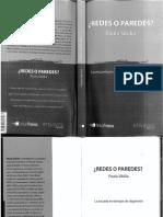 Sibila, Paula - Redes o Paredes. Libro Completo