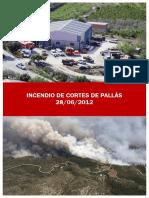 Incendio de Cortes de Pallás. 28/06/2012