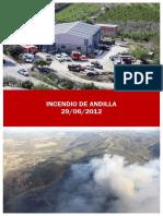 Incendio de Andilla. 29/06/2012