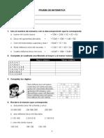 PRUEBA DIAGNOSTICA 5° - MATEMATICA.doc
