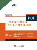 J4L1 Bis (Corrigé) - Les Institutions de la Ve République (Annales)