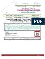 ANALYTICAL METHOD DEVELOPMENT AND VALIDATION FOR THE ESTIMATION OF TRABECTEDIN IN BULK AND PARENTERAL DOSAGE FORM BY RP-HPLC