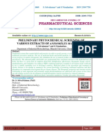 PRELIMINARY PHYTOCHEMICAL SCREENING OF VARIOUS EXTRACTS OF ANISOMELES MALABARICA