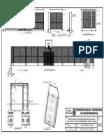 Plano de Cerco Perimetrico Losa Llupa Mdi -A2-Detalle de Cerco