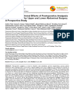 Observation on Clinical Effects of Postoperative Analgesia With Sufentanil After Upper and Lower Abdominal Surgery a Prospective Study