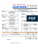 Commercial Invoice 24-01-2018