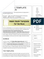 Basic Book Template for Scribus – John Osterhout