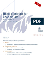 Basic Statistics for Economists Lecture 2