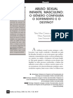 Abuso Sexual Infanntil Masculino - o Genero Configura o Sofrimento e o Destino - 2009
