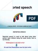 Unit 1 Reported Speech