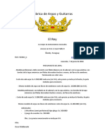 Presupuesto Arpa Paraguaya - 07.06.16