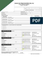 Censo de Prestadores Isj