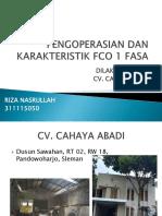 Pengoperasian Dan Karakteristik Fco 1 Fasa