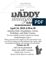 2018 daddy daughter dance flyer