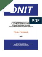 DNIT - Diretrizes Basicas de Projetos Rodoviários PDF